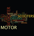are motor scooters safe yes and no text vector image vector image