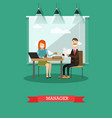 bank manager concept in flat vector image vector image