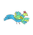 bird doodle ethnic hand drawing birdie isolated vector image