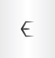 black e logo letter e symbol vector image vector image
