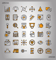 business element color line icons perfect pixel vector image vector image