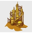 Cartoon castle from the Golden sand vector image vector image