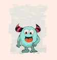 cartoon monster cute comic alien design for your vector image