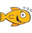 Cartoon smiling goldfish vector image vector image