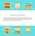 catering equipment banner template in flat style vector image vector image