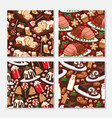 christmas food and desserts holiday decoration vector image vector image