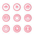 circle banner icon with shadow vector image vector image