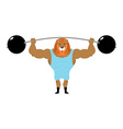 Circus Lion Strong retro athlete big beast in vector image vector image