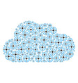 cloud composition of target bullseye icons vector image vector image