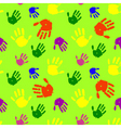 color hands palms background vector image vector image