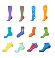 Colorful Fun Socks Set vector image vector image