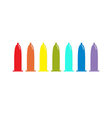 Condom rainbow icon set Protection White vector image