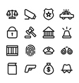 crisp law icons vector image