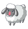 cute sad sheep icon cartoon style vector image