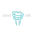 Dental care logo vector image