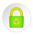 Eco bag icon cartoon style vector image vector image