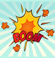 explosion retro comic cartoon icon vector image