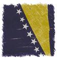 Flag of Bosnia and Herzegovina handmade vector image
