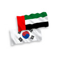 flags south korea and united arab emirates on a vector image