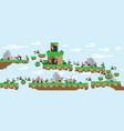 flat islandlandscapewar gameretro vector image vector image