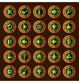 Flat steam punk game buttons vector image