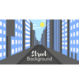 flat style of city street vector image vector image