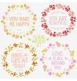 floral wreaths set vector image vector image