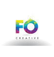 fo f o colorful letter origami triangles design vector image vector image