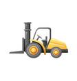 forklift loader warehouse vector image vector image