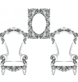 Glamorous Rich Baroque Rococo Furniture vector image vector image