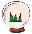 glass christmas ball on white background vector image