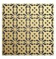 Golden geometric 3d seamless pattern vector image vector image