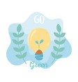 growing plant in bulb foliage nature environment vector image