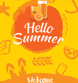 hello summer beach party poster background vector image vector image
