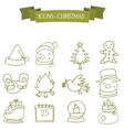 Holiday and Christmas icons set vector image