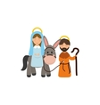 Holy mary and joseph vector image