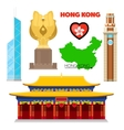 Hong Kong China Travel Doodle with Architecture vector image vector image