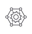 how it worksgears settings line icon vector image