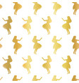 hula dancers gold foil seamless pattern vector image vector image
