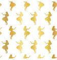 hula dancers gold foil seamless pattern vector image