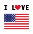I LOVE USA4 vector image vector image