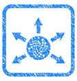 iota cashout arrows framed stamp vector image vector image