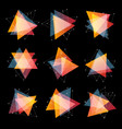 isolated abstract pink and orange color triangles vector image vector image