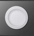 Isolated empty ceramic dish plate realistic vector image