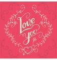 love you hand-lettering card vector image vector image