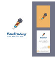 microphone creative logo and business card vector image