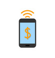 mobile pay flat icon vector image