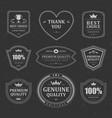 monochrome premium labels and badges set vector image vector image