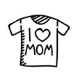 mothers day t-shirt hand drawn icon design sign vector image vector image