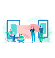 online business - flat design style colorful vector image